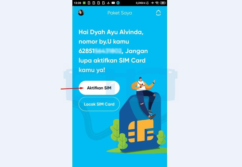 Pilih Aktifkan SIM Card by U