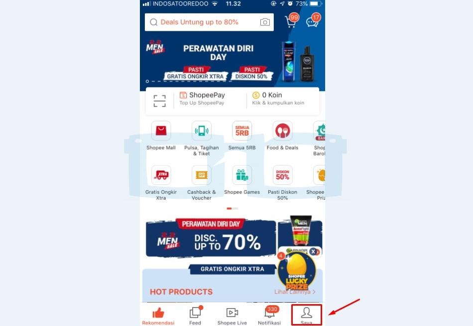 Pilih Menu Saya untuk Bayar Shopee Paylater Lewat Transfer Bank