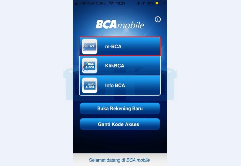 Pilih Menu m BCA untuk Top Up Gopay