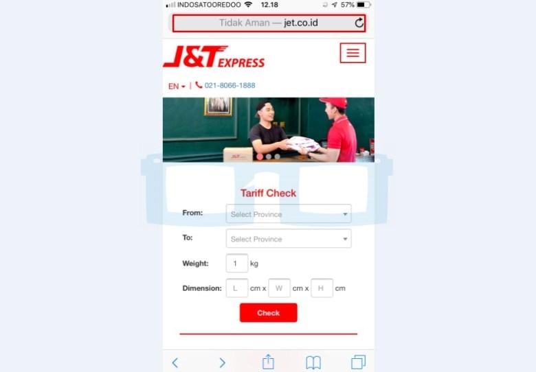 Kunjungi Website Resmi JT untuk Mengecek dan Lacak Pesanan Shopee