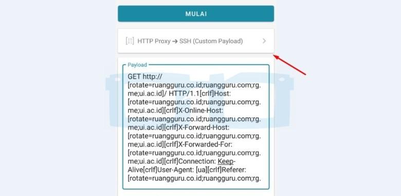 Pilih Server SSH Http Injector