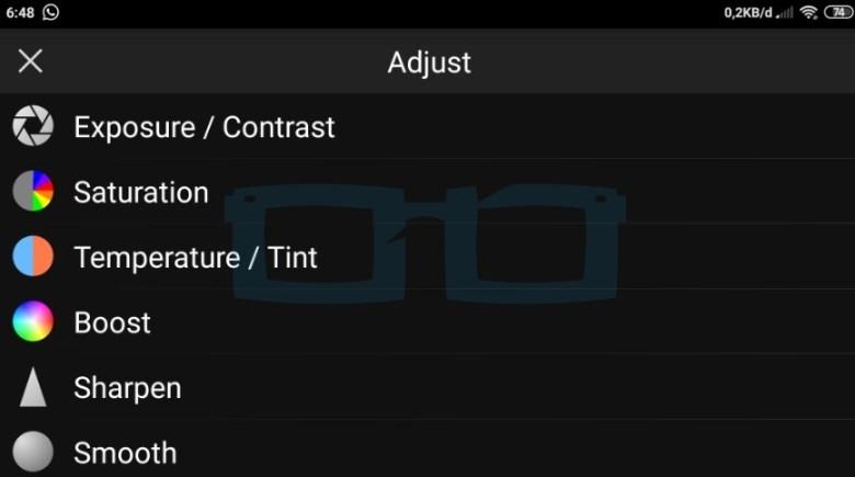 Fitur Adjust PicSay Pro Apk