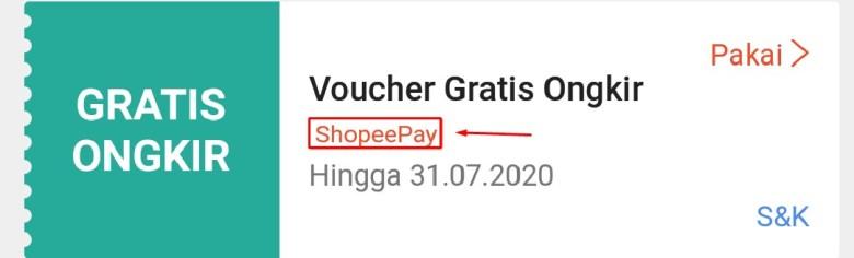 Voucher Gratis Ongkir Shopeepay atau Shopee Paylater