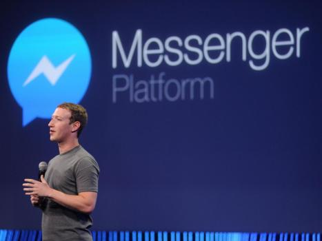Mark Zuckerberg announces Facebook Messenger Bots at F8