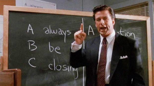 Sales advice from Glengarry Glen Ross