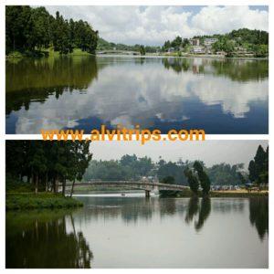मिरिक झील के सुंदर दृश्य