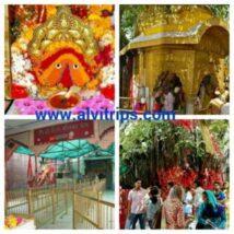चिन्तपूर्णी देवी मंदिर के सुंदर दृश्य