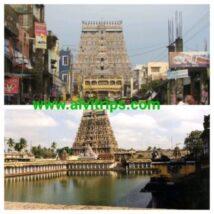 चिदंबरम मंदिर के सुंदर दृश्य