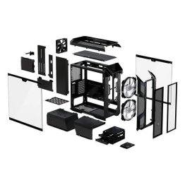 Cooler Master MasterCase H500M Four Tempered Glass Panels, Two 200mm ARGB  Fans with Controller ATX Mid-Tower Computer Case (Black) |