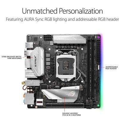 Asus Rog Strix Z370 I Gaming Lga1151 Ddr4 Dp Hdmi M.2 Z370 mini Itx 90MB0VK0 M0EAY0