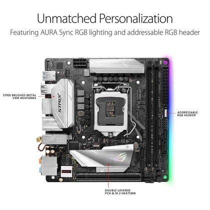 Asus Rog Strix Z370 I Gaming Lga1151 Ddr4 Dp Hdmi M.2 Z370 mini Itx 90MB0VK0 M0EAY0