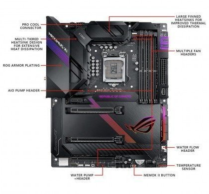 Asus ROG MAXIMUS XI CODE ATX Gaming Motherboard With M.2 Heatsink Aura Sync RGB LED DDR4 4400MHz 802.11ac Wi Fi Dual M.2 SATA 6GbS And USB 3.1 Gen 2 90MB0XT0 M0EAY0.