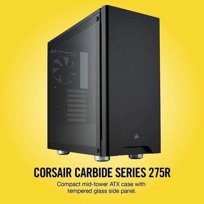 CORSAIR CARBIDE 275R Mid Tower Gaming Case Tempered Glass Black CC 9011132 WW 7