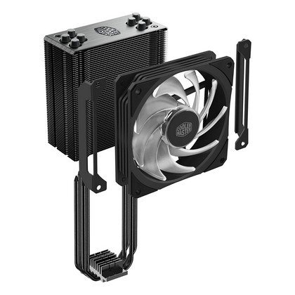 Cooler Master Hyper 212 RGB Black Edition Air Cooler 4 Contact Heat Pipes 120mm RGB