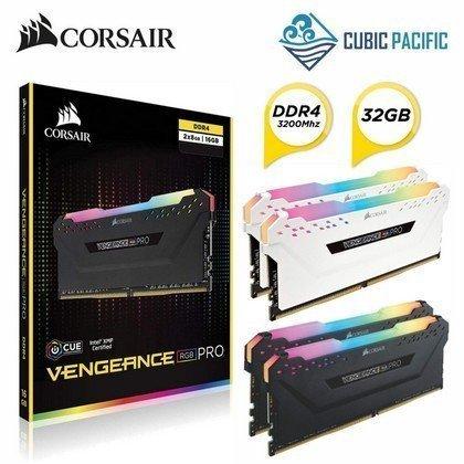Corsair Vengeance RGB PRO 32GB 2x16GB DDR4 3200MHz C16 Memory Kit Black CMW32GX4M2C3200C16