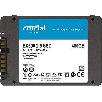 Crucial BX500 480GB 3D NAND SATA 2.5 Inch Inernal CT480BX500SSD1