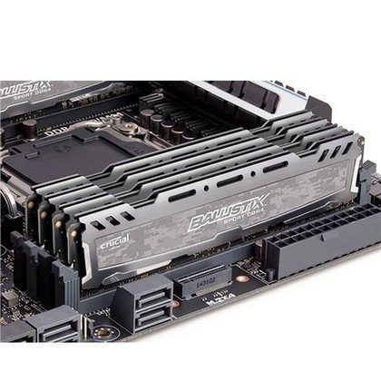 Crucial Ballistix 8GB Sport LT Series DDR4 3000 MHz SR UDIMM Memory Gray BLS8G4D30AESBK