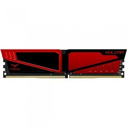 Team T Force Vulcan 8 GB DDR4 PC4 19200 2400 MHz Gaming RAM Red TLRED48G2400HC1401