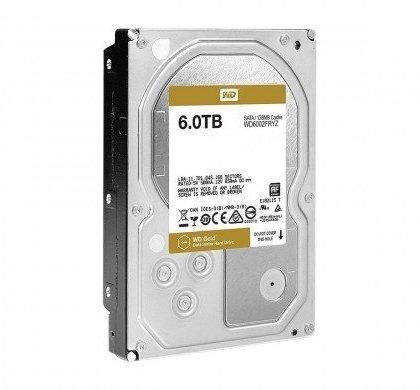 Western Digital WD Gold 6TB Enterprise Class Hard Disk Drive 7200 RPM Class SATA 6 GbS 128MB Cache 3.5 Inch WD6002FRYZ.