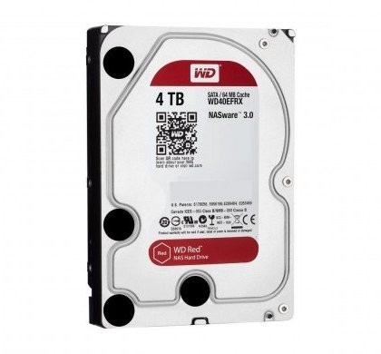 Western Digital WD Red 4TB NAS Hard Disk Drive 5400 RPM Class SATA 6 GBS 64 MB Cache WD40EFRX