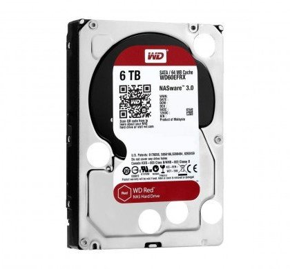 Western Digital WD Red 6TB NAS Hard Disk Drive 5400 RPM Class SATA 6 GbS 64MB Cache WD60EFRX