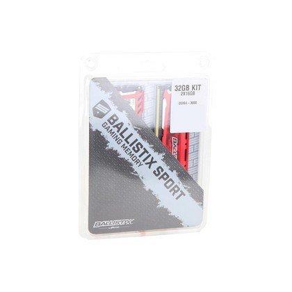 Ballistix Sport LT 32GB 2 x 16GB 288 Pin SDRAM DDR4 3000 PC4 24000 Desktop Memory Model BLS2K16G4D30AESE