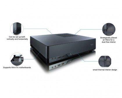Fractal Design Node 202 Black Slim Mini ITX Computer Case FD CA NODE 202 BK