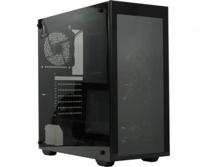 Gamemax Draco RGB Full Tempered Glass Side Window 120 RGB LED Fans Included ATX Mid Tower Computer Case Draco New W902 Copy