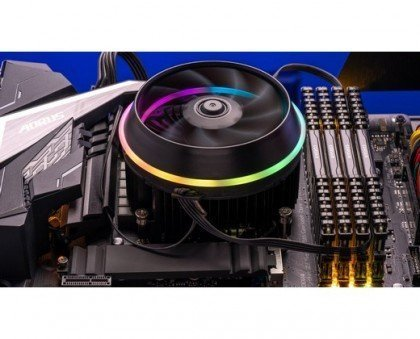 darkFlash Shadow PWM Aluminum CPU Air Cooler LED Addressable RGB Motherboard Control Cooler Cooling Fan Motherboard Sync for Intel Core i7 i5 i3