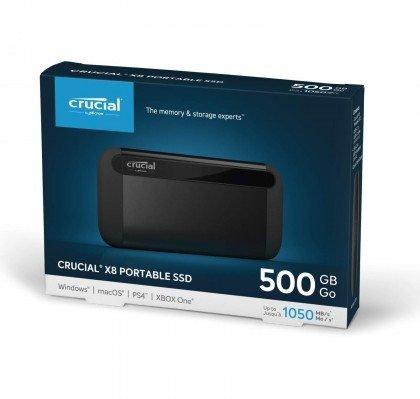 Crucial 500GB X8 Portable SSD CT500X8SSD9 2
