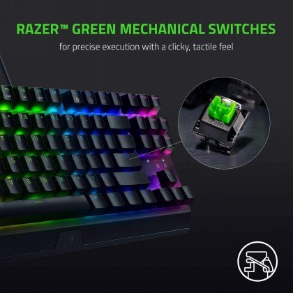 Razer Blackwidow V3 Tenkeyless Green Switches Gaming Keybaord RZ03 03490100 R3M1 2
