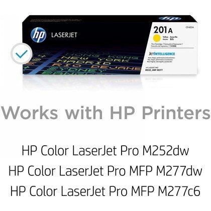 HP 201A Laserjet Toner Cartridge Yellow 4