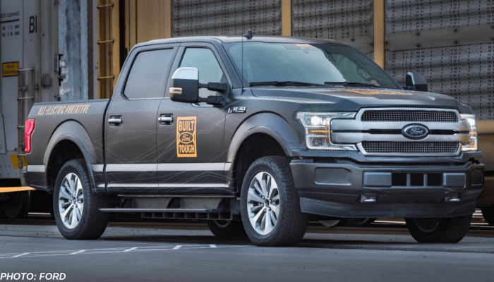 Here's Why The All-Electric F-150 Prototype Was Able To Tow A Train