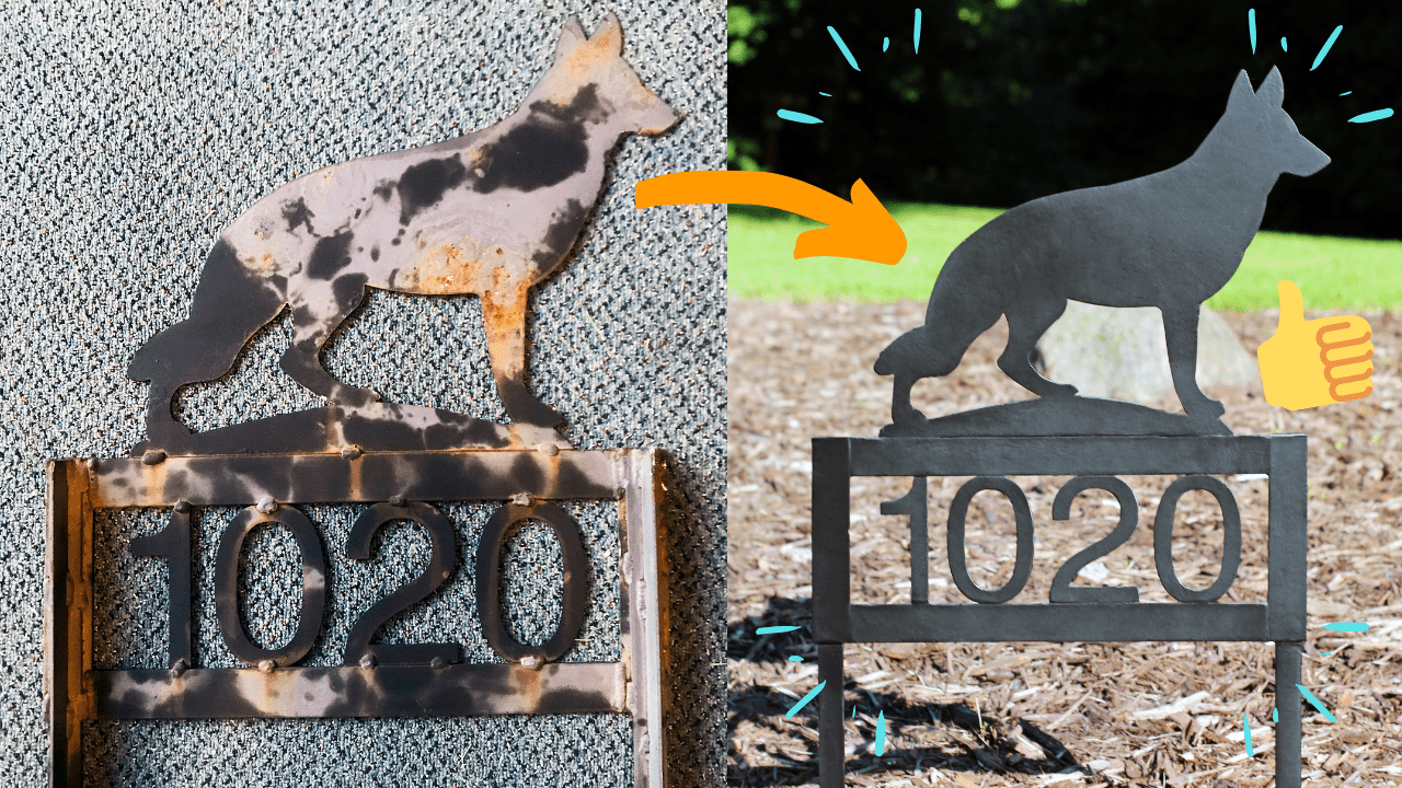 Easy DIY – Refinishing A Metal Address Sign