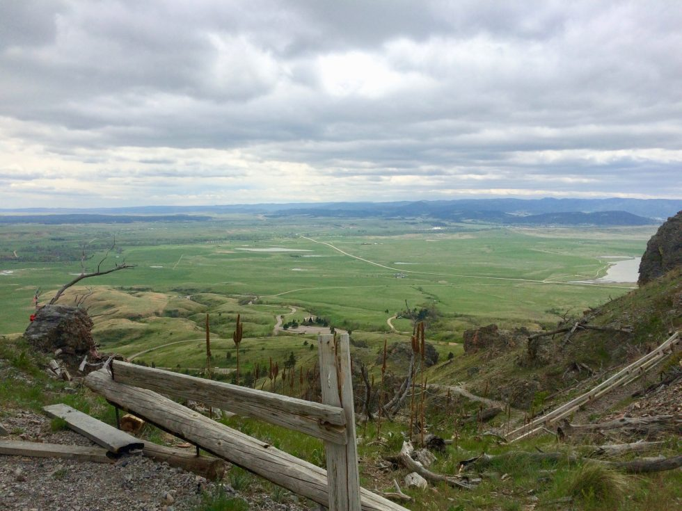 The view from halfway up Bear Butte outside of Sturgis, South Dakota, overlooking the great plains.