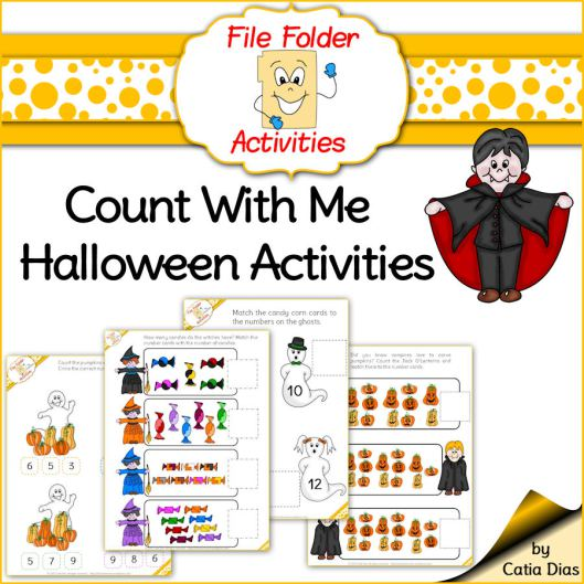 Halloween File Folder Counting Activities