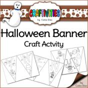 Halloween banner craft activity FREE