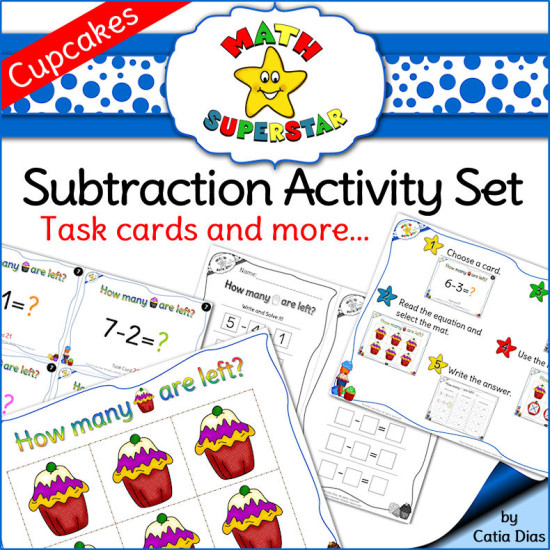Subtraction-activity-Set-Cupcakes