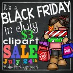 Black Friday in July Clip Art Sale