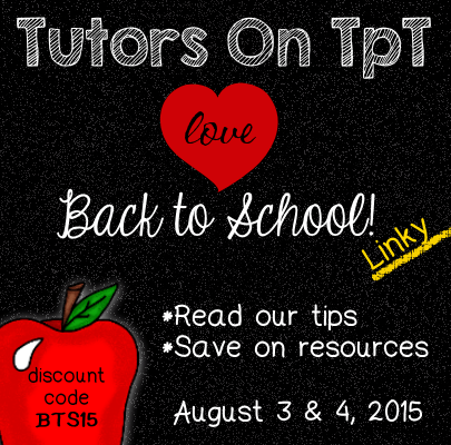 Tutors On TpT Love Back to School