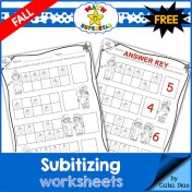 Fall Subitizing Worksheets - FREE SAMPLE