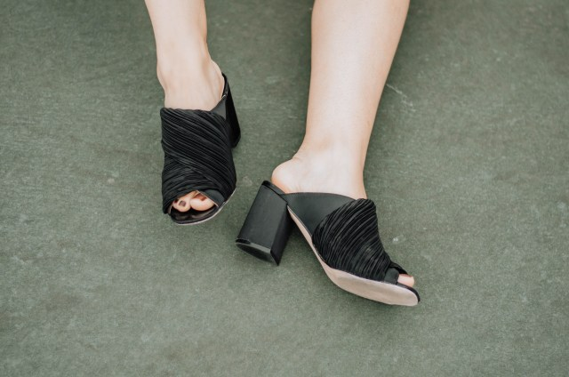 These pretty mules were purchased at H&M.