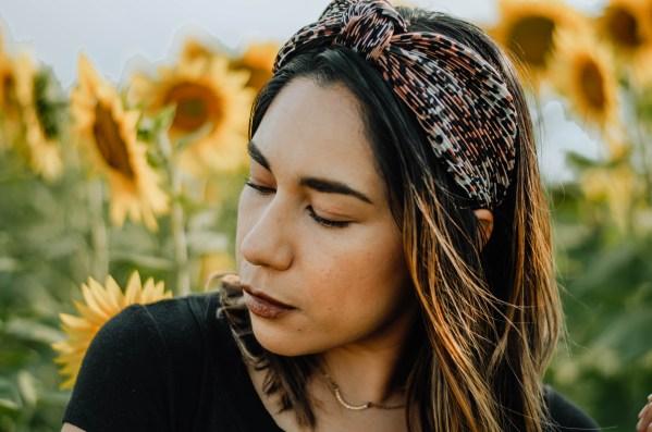 Sunflower Kansas girl