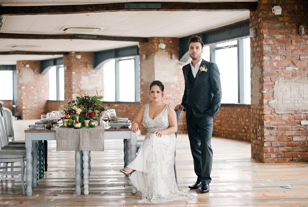 best UK wedding blog Rock My Wedding Skyloft shoot Always Andri Anushe Low Photography