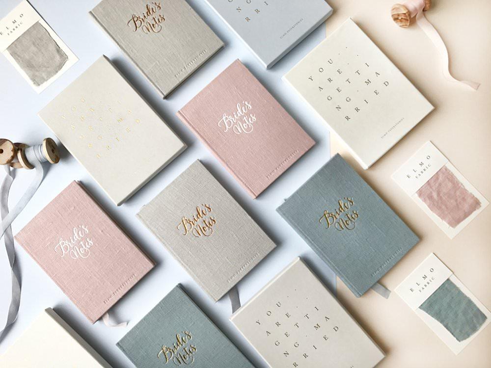 luxury wedding notebooks by Elmo paperstories