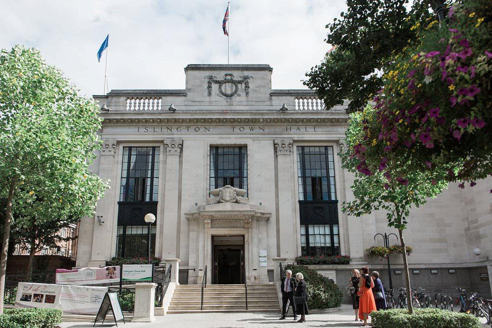 Caroline and Julian Bennetts wedding, Islington Town Hall, London