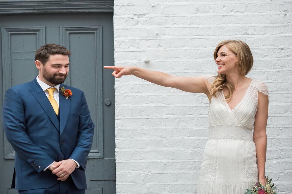 Caroline and Julian Bennetts wedding, Islington, London