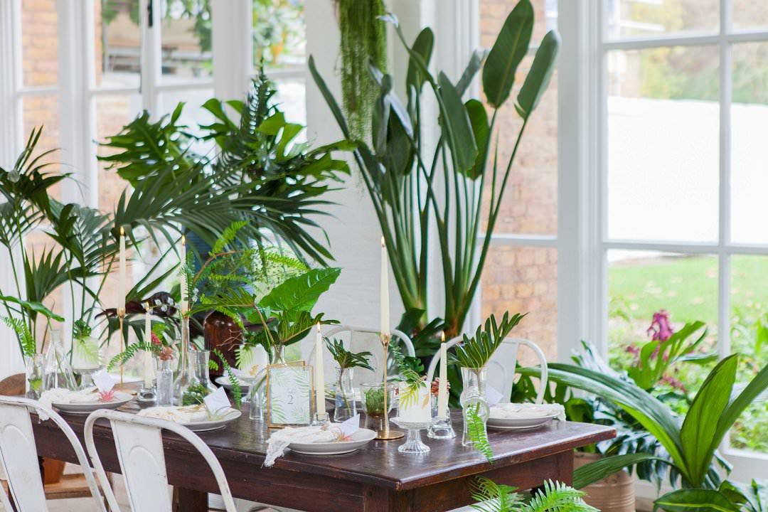 wedding tablescape troprical wedding inspiration shoot trend