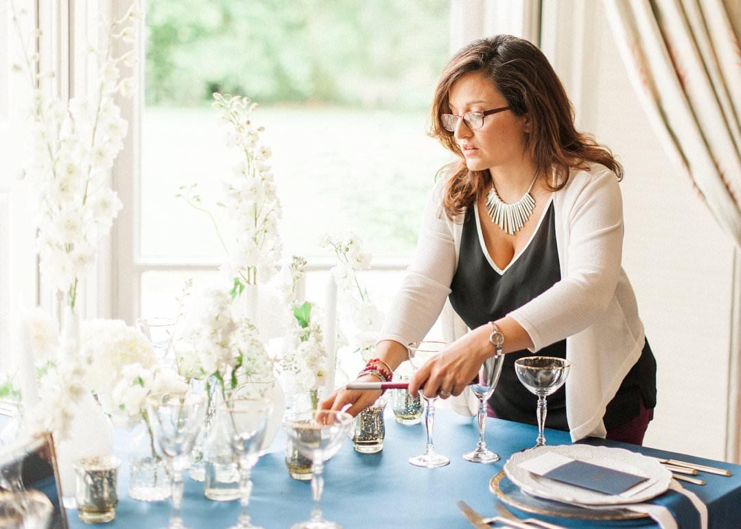 wedding designer lights candle