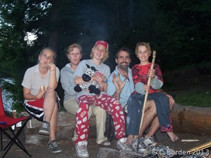 A family portrait June 16 2005 taken at Ragged Lake